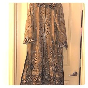 Pakistani/ Indian outfit Elan embroidered material